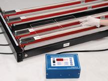 Heat strips for forming plexiglass